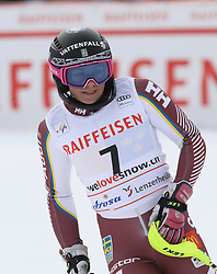 28.01.2018, Lenzerheide, SUI, FIS Weltcup Ski Alpin, Lenzerheide, Slalom, Damen, 2. Lauf, im Bild Frida Hansdotter (SWE) // Frida Hansdotter of Sweden reacts after her 2nd run of ladie's Slalom of FIS ski alpine world cup in Lenzerheide, Austria on 2018/01/28. EXPA Pictures © 2018, PhotoCredit: EXPA/ Sammy Minkoff<br /> <br /> *****ATTENTION - OUT of GER*****