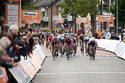 The final sprint at Boels Ladies Tour 2019 - Stage 2, a 113.7 km road race starting and finishing in Gennep, Netherlands on September 5, 2019. Photo by Sean Robinson/velofocus.com