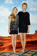 May 27, 2014 - London, Great Britain - <br /> <br /> Amanda Seyfried and Charlize Theron attend the 'Million Ways To Die In the West' Photocall at Claridges Hotel on May 27 2014 in London <br /> ©Exclusivepix