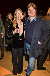 MADELEINE FARLEY and her brother musician GUY FARLEY at a lecture featuring Don McCullin talking on War and Peace with Kate Silverton in aid of TUSK at Christie's, 8 King Street, London on 9th December 2015.