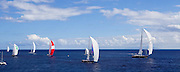 Highland Breeze, Salute, P2, Axia, and Salperton sailing in the 2010 St. Barth's Bucket superyacht regatta, race 3.