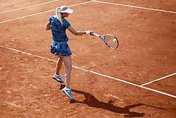 May 22, 2019 - Paris, France - Czech Republic's Denisa Allertova in action during her women's singles of the first qualifications round of Roland Garros against Kristina Kucova of Slovakia, on 22 May 2019 in Paris, France, (Credit Image: © Ibrahim Ezzat/NurPhoto via ZUMA Press)