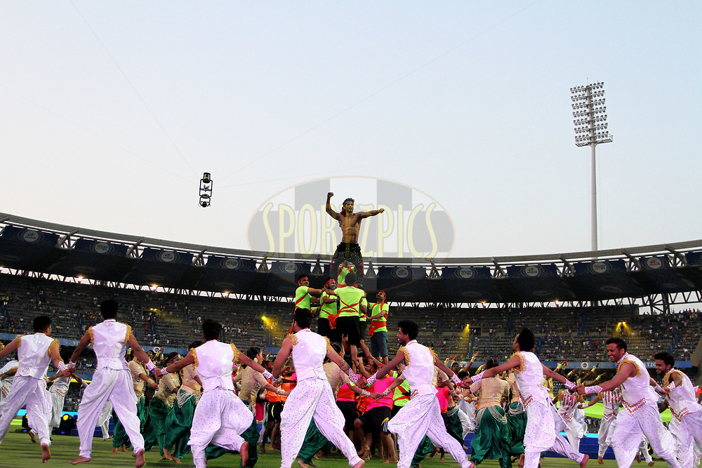 Bollywood actor Sushant Singh Rajput performs before the start of the match 7 of the Vivo 2017 Indian Premier League between the Mumbai Indians and the Kolkata Knight Riders held at the Wankhede Stadium in Mumbai, India on the 9th April 2017<br /> <br /> Photo by Vipin Pawar - IPL - Sportzpics