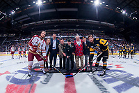 REGINA, SK - MAY 22: Ceremonial puck drop at the Brandt Centre on May 22, 2018 in Regina, Canada. (Photo by Marissa Baecker/CHL Images)