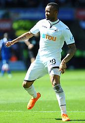 Jordan Ayew of Swansea City in action -Mandatory by-line: Nizaam Jones/JMP- 13/05/2018 - FOOTBALL - Liberty Stadium - Swansea, Wales - Swansea City v Stoke City - Premier League