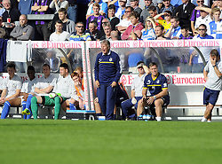 Bristol Rovers Manager, John Ward screams instructions from his dug out - Photo mandatory by-line: Joe Meredith/JMP - Tel: Mobile: 07966 386802 05/10/2013 - SPORT - FOOTBALL - Memorial Stadium - Bristol - Bristol Rovers V Fleetwood Town - Sky Bet League 2