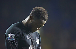 LONDON, ENGLAND - Sunday, November 30, 2014: Everton's Romelu Lukaku looks dejected as his side lose 2-1 against Tottenham Hotspur during the Premier League match at White Hart Lane. (Pic by David Rawcliffe/Propaganda)