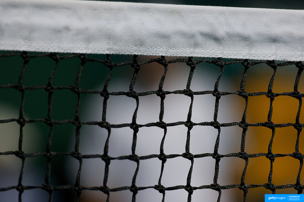 The top of the tennis net at the All England Lawn Tennis Championships at Wimbledon, London, England on Tuesday, June 30, 2009. Photo Tim Clayton.