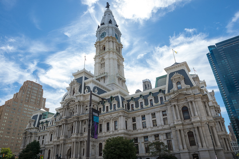 City Hall facade in Philadelphia