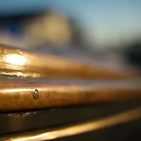 close up of sailing tackle in a boatyard