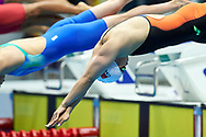 Ashgabat, Turkmenistan - 2017 September 24: Chenyao Zhang from People's Republic of China competes in Women's 200m Freestyle Final while Short Course Swimming competition during 2017 Ashgabat 5th Asian Indoor & Martial Arts Games at Aquatics Centre (AQC) at Ashgabat Olympic Complex on September 24, 2017 in Ashgabat, Turkmenistan.<br /> <br /> Photo by © Adam Nurkiewicz / Laurel Photo Services