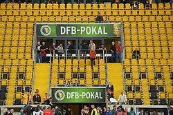 18.08.2014, Gluecksgas Stadion, Dresden, GER, DFB Pokal, Dynamo Dresden vs FC Schalke 04, 1. Runde, im Bild Werbetafeln fuer den DFB Pokal // during the 1st round match of German DFB Pokal between Dynamo Dresden vs FC Schalke 04 at the Gluecksgas Stadion in Dresden, Germany on 2014/08/18. EXPA Pictures © 2014, PhotoCredit: EXPA/ Eibner-Pressefoto/ Harzer<br /> <br /> *****ATTENTION - OUT of GER*****