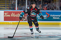 KELOWNA, CANADA - OCTOBER 20: Conner Bruggen-Cate #20 of the Kelowna Rockets skates against the Portland Winterhawks on October 20, 2017 at Prospera Place in Kelowna, British Columbia, Canada.  (Photo by Marissa Baecker/Shoot the Breeze)  *** Local Caption ***