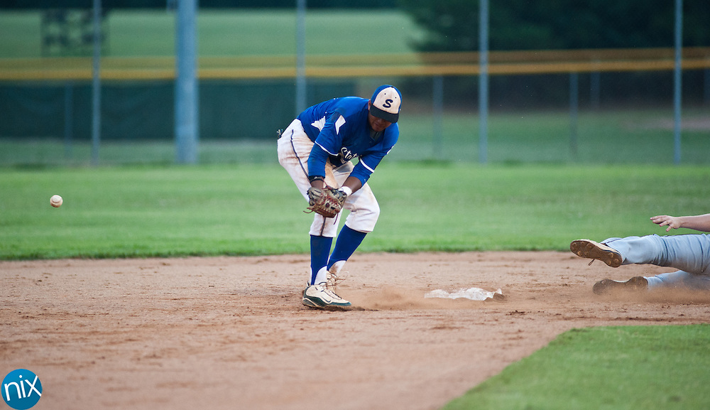 Kannapolis Post 115 against Statesville at South Iredell High School Thursday night.. (photo by James Nix)
