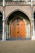 Niuewe Kerk wooden door, Delft, Netherlands
