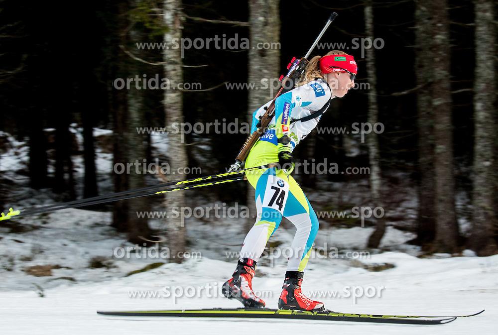 Anja Erzen (SLO) competes during Women 7,5 km Sprint at day 2 of IBU Biathlon World Cup 2015/16 Pokljuka, on December 18, 2015 in Rudno polje, Pokljuka, Slovenia. Photo by Vid Ponikvar / Sportida