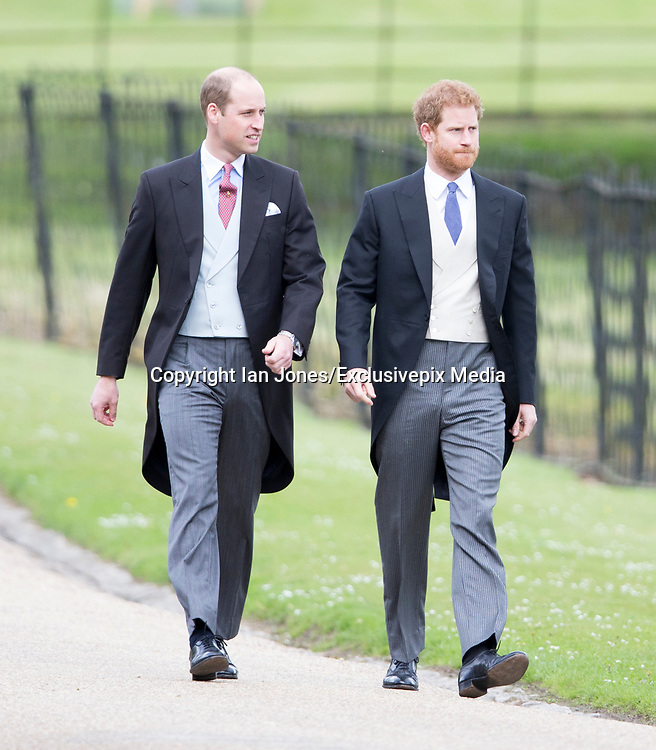 ENGLEFIELD- UK -20th May 2017: <br /> <br /> Pippa Middleton Wedding<br /> <br /> The wedding of Pippa Middleton, sister of Kate, Duchess of Cambridge takes place at St Mark's Church Englefield in Berkshire.<br /> Pippa marries James Matthews. Present at the ceremony were her sister, Kate with Prince William and Prince Harry. Prince George and Princess Charlotte were pageboy and bridesmaids.<br /> <br /> ©Ian Jones/Exclusivepix Media