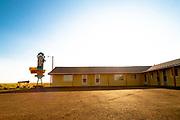 Motel along the High Line, in Galata, Montana.