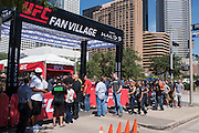 HOUSTON, TX - OCTOBER 3:  Fans line up for the UFC 192 fan village at the Toyota Center on October 3, 2015 in Houston, Texas. (Photo by Cooper Neill/Zuffa LLC/Zuffa LLC via Getty Images) *** Local Caption ***