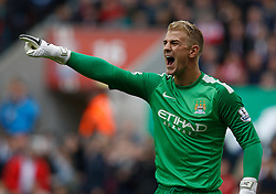 Manchester City's Joe Hart - Photo mandatory by-line: Matt Bunn/JMP - Tel: Mobile: 07966 386802 14/09/2013 - SPORT - FOOTBALL -  Britannia Stadium - Stoke-On-Trent - Stoke City V Manchester City - Barclays Premier League