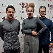 Director Janic Halioua, Singer Blanka Inauen and Producer Al Hug of Len Sander attend World Premiere of Team Khan - Raindance Film Festival 2018 at Vue Cinemas - Piccadilly, London, UK. 29 September 2018.