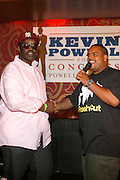 l to r: Fab 5 Freddy and DJ Enuff at An evening with Dave Chappelle for Kevin Powell for Congress held at Eugene's on July 9, 2008..Kevin Powell runs as a Democratic Candidate for Congress in Brooklyn's 10th Congressional District