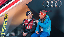 06.01.2016, Olympiaschanze, Garmisch Partenkirchen, GER, FIS Weltcup Ski Sprung, Vierschanzentournee, Bewerb, im Bild Simon Ammann (SUI) und FIS Renndirektor Walter Hofer // Simon Ammann of Switzerland with FIS race director Walter Hofer after his Competition Jump of Four Hills Tournament of FIS Ski Jumping World Cup at the Olympiaschanze, Garmisch Partenkirchen, Germany on 2016/01/01. EXPA Pictures © 2016, PhotoCredit: EXPA/ JFK