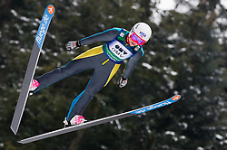 Sarah Hendrickson of USA during Normal Hill Individual Competition at FIS World Cup Ski jumping Ladies Ljubno 2012, on February 11, 2012 in Ljubno ob Savinji, Slovenia. (Photo By Vid Ponikvar / Sportida.com)