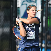 UNCW played Virginia Tech in Women's Tennis  Saturday September 13, 2014 at UNCW. (Jason A. Frizzelle)