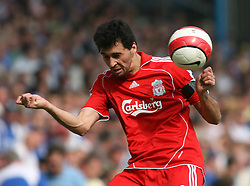 Portsmouth, England: Saturday, April 28, 2007: Liverpool's Alvaro Arbeloa in action Portsmouth during the Premiership match at Fratton Park (Pic by Chris Ratcliffe/Propaganda)