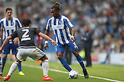 Brighton & Hove Albion full back Gaetan Bong (3) during the EFL Sky Bet Championship match between Brighton and Hove Albion and Brentford at the American Express Community Stadium, Brighton and Hove, England on 10 September 2016.