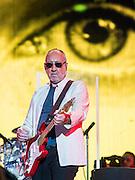 The Who play the Pyramid Stage. The 2015 Glastonbury Festival, Worthy Farm, Glastonbury.