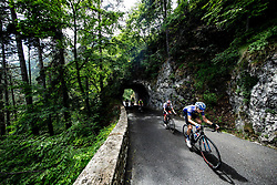 Tadej Pogacar (SLO) of UAE Team Emirates and Aleksandr Vlasov (RUS) of Gazprom - Rusvelo during 4th Stage of 26th Tour of Slovenia 2019 cycling race between Nova Gorica and Ajdovscina (153,9 km), on June 22, 2019 in Slovenia. Photo by Vid Ponikvar / Sportida