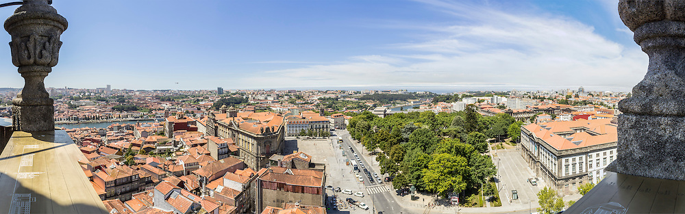 Panoramic view of old downtown, Porto cityscape, UNESCO World Heritage Site, on a summer day, Portugal.