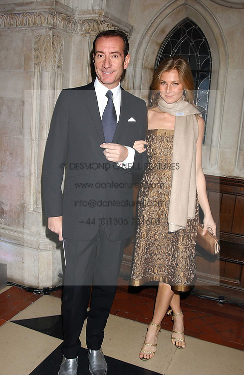 ROBERT HANSON and ELIZABETH VON GUTTIN at Andy & Patti Wong's annual Chinese New Year party, this year celebrating the year of the dog held at The Royal Courts of Justice, The Strand, London WC2 on 28th January 2006.<br />