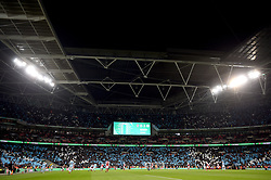 A general view during the Carabao Cup Final at Wembley Stadium, London.