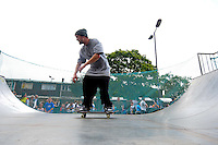 Skate park at Hatifled Town Cetnre for local residents on the day The Olympic Torch Relay passes through Hatfield, Herts,