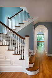 3122 Newark House Kitchen, Great Room, pool, Exterior patio staircase, arched hallway