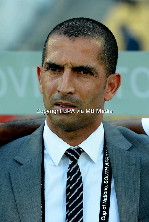 CAF_Africa Cup of Nations - South Africa 2013 / Group D / <br /> Ivory Coast vs Togo 2-1  ( Royal Bafokeng Stadium - Rustenburg , South Africa ) <br /> Sabri Lamouchi - Coach of Ivory Coast ,  during the match between Ivory Coast and Togo