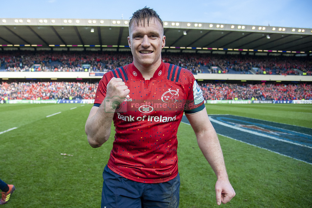 March 30, 2019 - Edinburgh, Scotland, United Kingdom - Rory Scannell of Munster celebrates during the Heineken Champions Cup Quarter Final match between Edinburgh Rugby and Munster Rugby at Murrayfield Stadium in Edinburgh, Scotland, United Kingdom on March 30, 2019  (Credit Image: © Andrew Surma/NurPhoto via ZUMA Press)