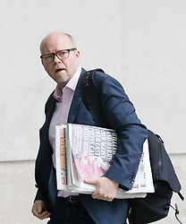 © Licensed to London News Pictures. 23/07/2017. LONDON, UK.  TOBY YOUNG, journalist arrives at BBC Broadcasting House to appear on the Andrew Marr Show.  Photo credit: Vickie Flores/LNP