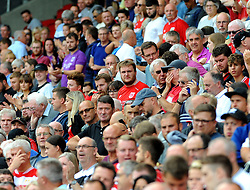 Bristol City fans watch the match from the stands  - Mandatory by-line: Nizaam Jones/JMP- 18/08/2018 - FOOTBALL - Ashton Gate Stadium - Bristol, England - Bristol City v Middlesbrough - Sky Bet Championship