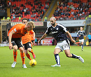 Dundee's Gary Harkins runs at United's Coll Donaldson and Aidan Connelly - Dundee United v Dundee at Tannadice<br /> - Ladbrokes Premiership<br /> <br />  - &copy; David Young - www.davidyoungphoto.co.uk - email: davidyoungphoto@gmail.com