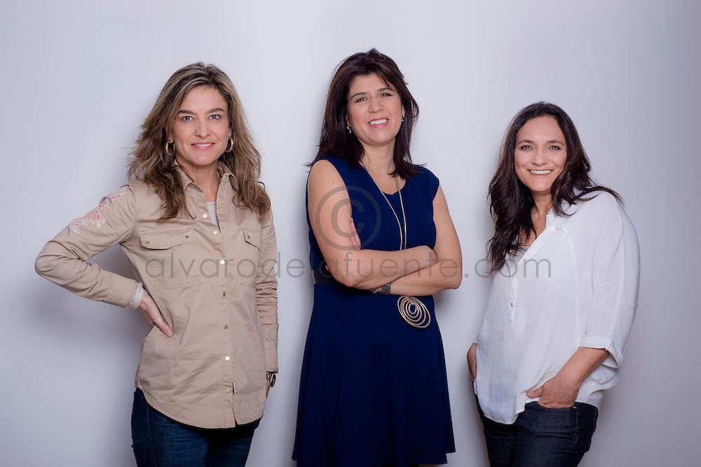 Carolina Simpson, Lorena Medel y Francisca Correa, socias de triplev comunicaciones. Santiago, Chile. 01-08-2014 (©Alvaro de la Fuente/Triple.cl)