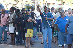 Thousands turned out for the anti-gas rally held in Broome on Saturday 16th Ocober 2010.  The rally sends a clear message to Premier Colin Barnett that there is massive opposition to the gas processing hub at James Price Point.
