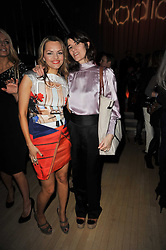 Left to right, MARIA HATZISTEFANIS and BELLA FREUD at the 2nd Rodial Beautiful Awards in aid of the Hoping Foundation held at The Sanderson Hotel, 50 Berners Street, London on 1st February 2011.