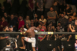 October 29, 2017 - Sao Paulo, Sao Paulo, Brazil - Oct, 2017 - Sao Paulo, Sao Paulo, Brazil - DEREK BRUNSON wins by knockout LYOTO MACHIDA (The Dragon) during UFC Fight Night, at the Gymnasium of Ibirapuera, in São Paulo, on Saturday (28) (Credit Image: © Marcelo Chello/CJPress via ZUMA Wire)