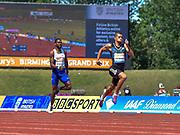 South African Wayde Van Niekirk leads the field in the 300m during the Sainsbury's Birmingham Grand Prix IAAF Diamond League Meeting at Alexandra Stadium, Birmingham, West Midlands, England on June  07  2015. (Steve Flynn/Image of Sport)