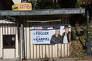 "An election poster for Polish political candidates Marta Fogler and Jan Karpiel of the Citizens' Coalition, on a residential street's tree, on 21st September 2019, in Szczawnica, Malopolska, Poland. Poland's parliamentary elections will be held on 13 October 2019 when all 460 members of the Sejm and 100 senators will be elected. The Sejm of the Republic of Poland is the lower house of the Polish parliament. It consists of 460 deputies elected by universal ballot and is presided over by a speaker called the ""Marshal of the Sejm of the Republic of Poland"""