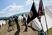 Re-inactors present the Battle of New Market on the historic battlefield in New Market, Virginia.